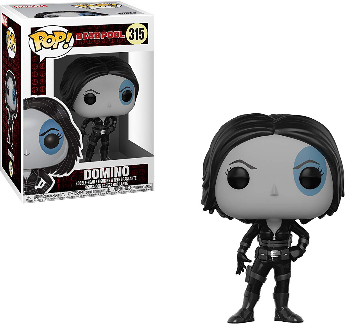 Funko POP! Bobble Фигурка Marvel: Deadpool Parody Domino 30861 фигурка funko pop bobble marvel black panther