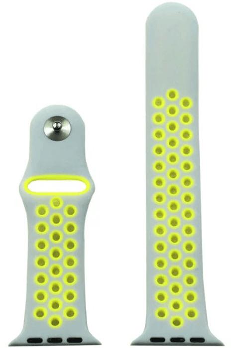 Eva AWA012WY, Grey Yellow ремешок спортивный для Apple Watch 42 мм