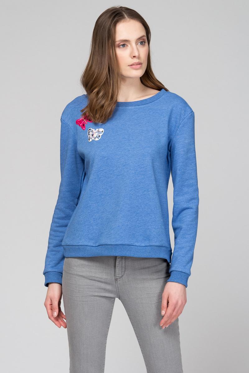 Толстовка женская Tom Farr, цвет: синий. TW8637.35701-2-coll. Размер M (46)