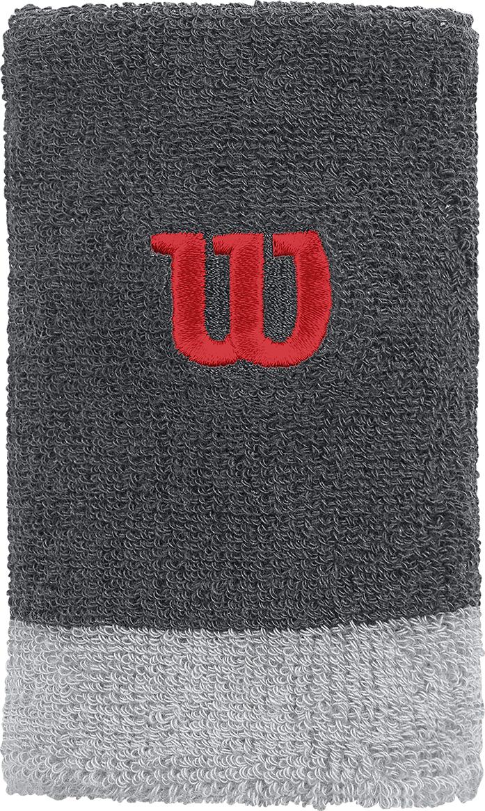 Напульсник Wilson Extra Wide W Wristband, цвет: серый. Размер универсальный, 2 шт