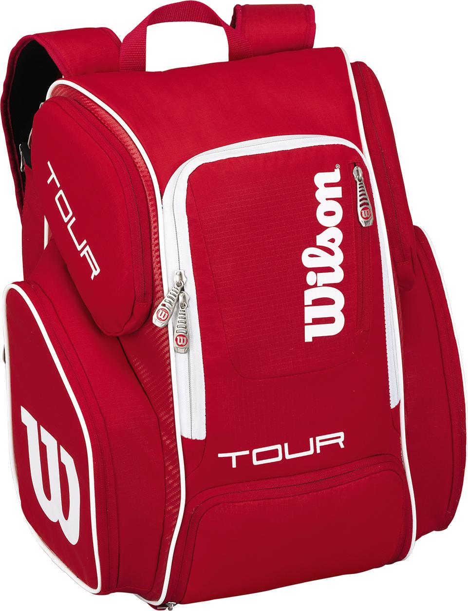 Рюкзак для теннисных ракеток Wilson Tour V Backpack Large, цвет: красный, белый goog yu man s canvas backpack travel schoolbag male large backpack men large capacity rucksack shoulder school bag
