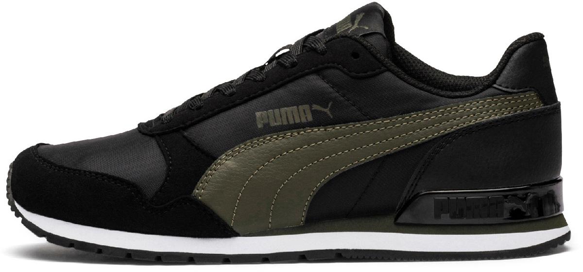 Кроссовки детские Puma ST Runner v2 NL Jr, цвет: черный, оливковый. 36529306. Размер , (37,)