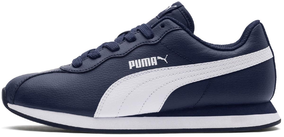 Кроссовки детские Puma Turin II Jr, цвет: темно-синий, белый. 36677303. Размер  (38)