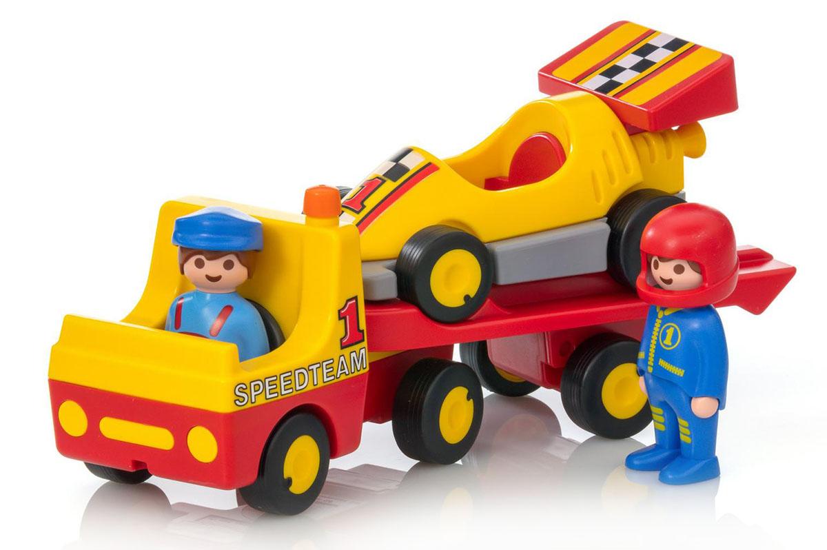 Playmobil Игровой набор Эвакуатор с гоночным автомобилем playmobil игровой набор в поисках приключений лодка с браконьерами