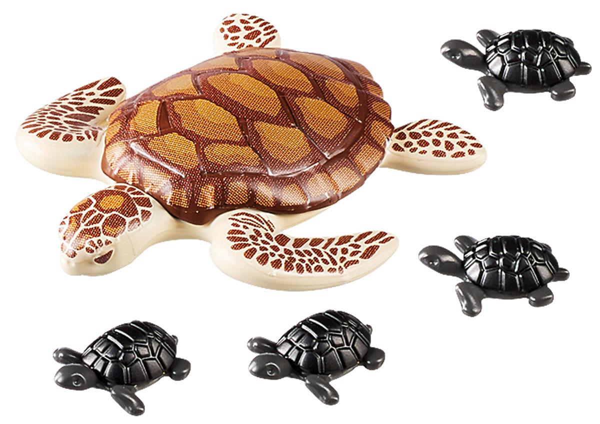 Playmobil Игровой набор Аквариум Морская черепаха с детьми миниатюра морская черепаха цвет золотистый 6 см
