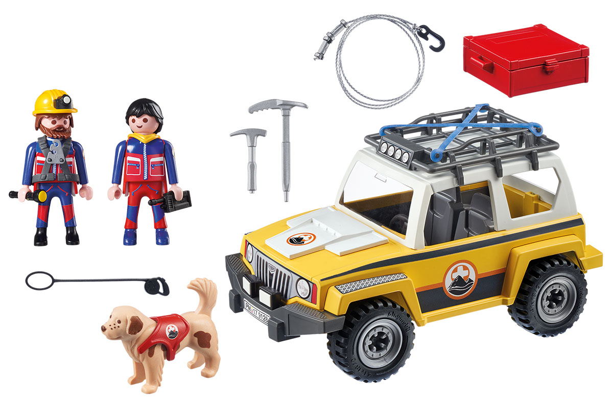 Playmobil Игровой набор Горноспасательная Грузовик горноспасателей playmobil игровой набор пожарный квадроцикл
