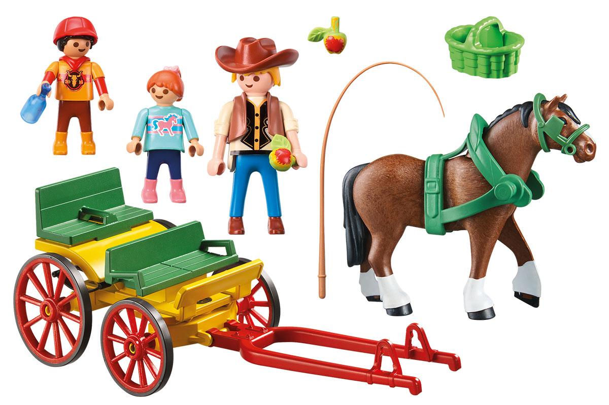 Playmobil Игровой набор Гужевая повозка playmobil® в поисках приключений семья рысей с кинооператором playmobil