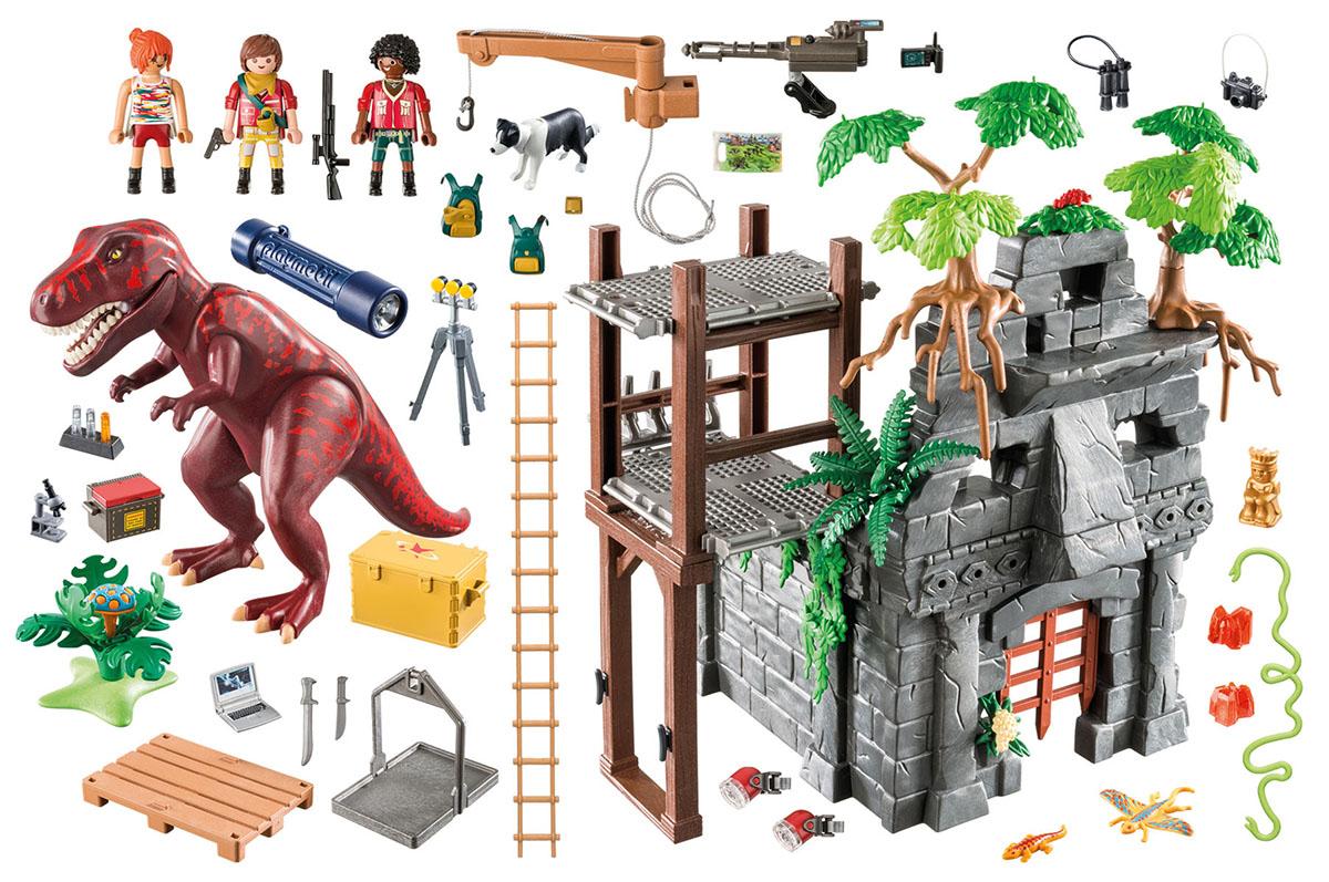 Playmobil Игровой набор Динозавры Затерянный храм с тиранозавром playmobil спасатели с носилками