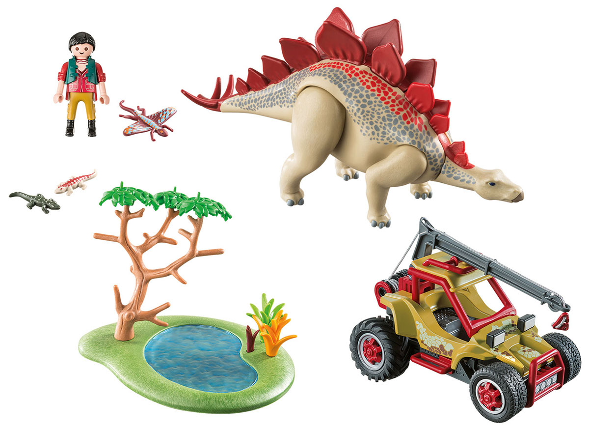 Playmobil Игровой набор Динозавры Исследовательский транспорт со стегозавром