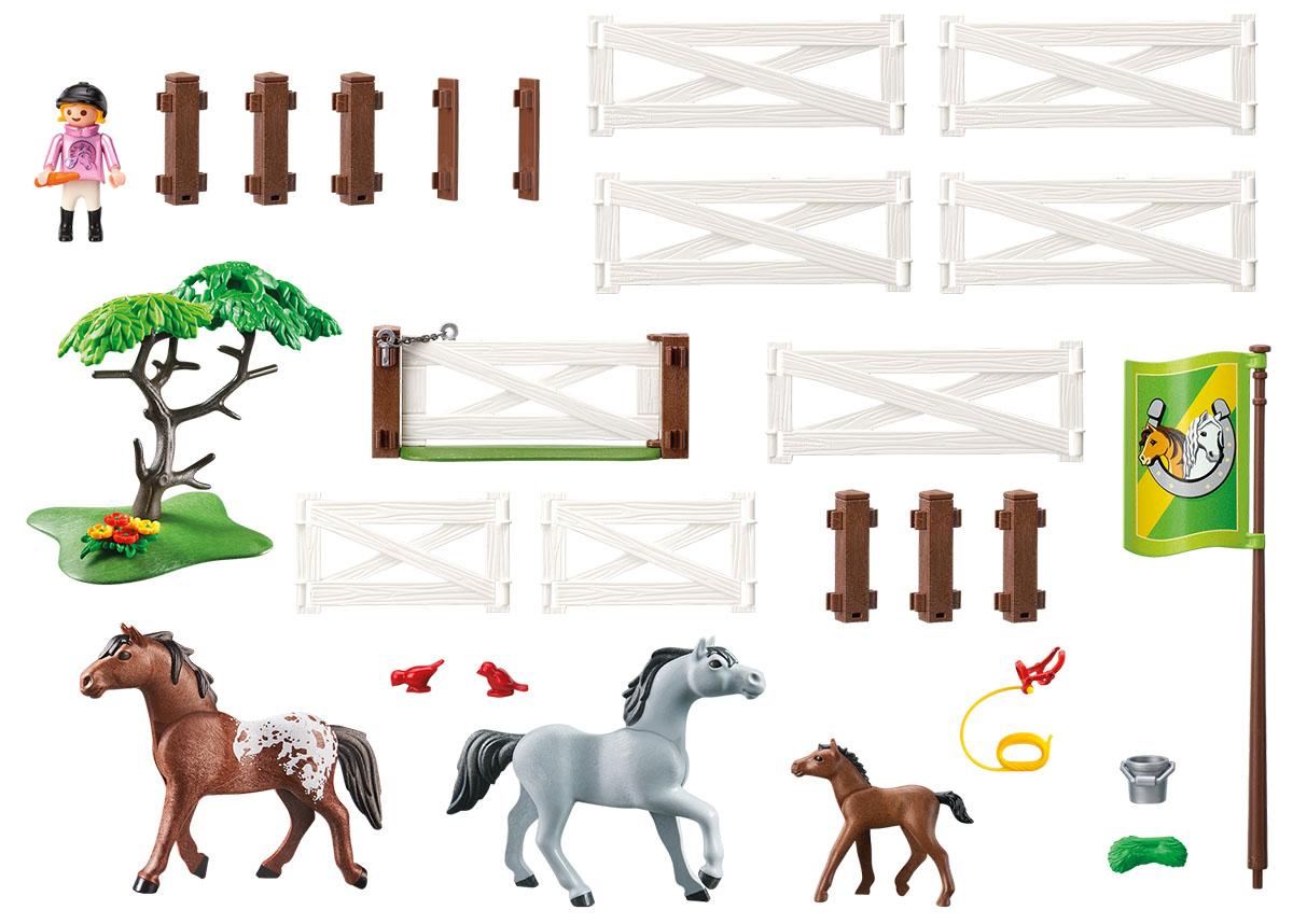 Playmobil Игровой набор Загон для лошадей playmobil спасатели с носилками