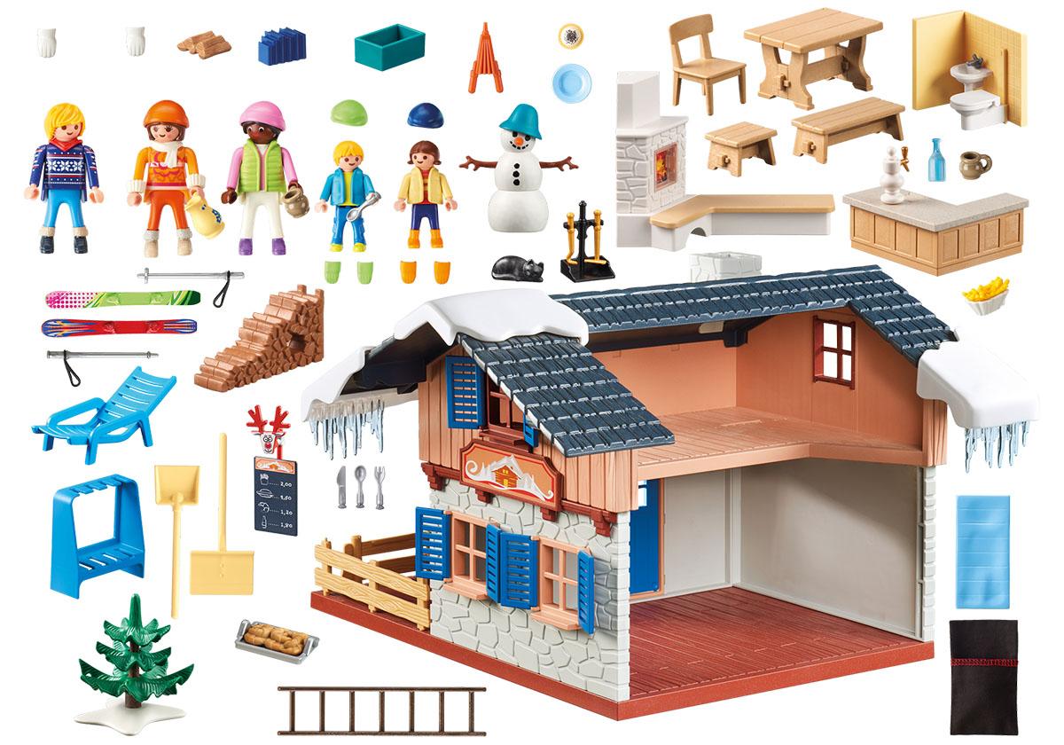 Playmobil Игровой набор Зимние виды спорта Лыжная база лыжная куртка