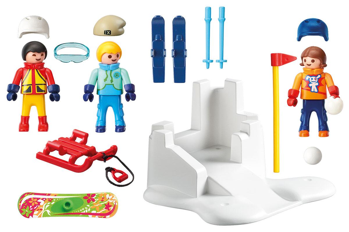 Playmobil Игровой набор Зимние виды спорта Снежки playmobil игровой набор девочка с морскими свинками