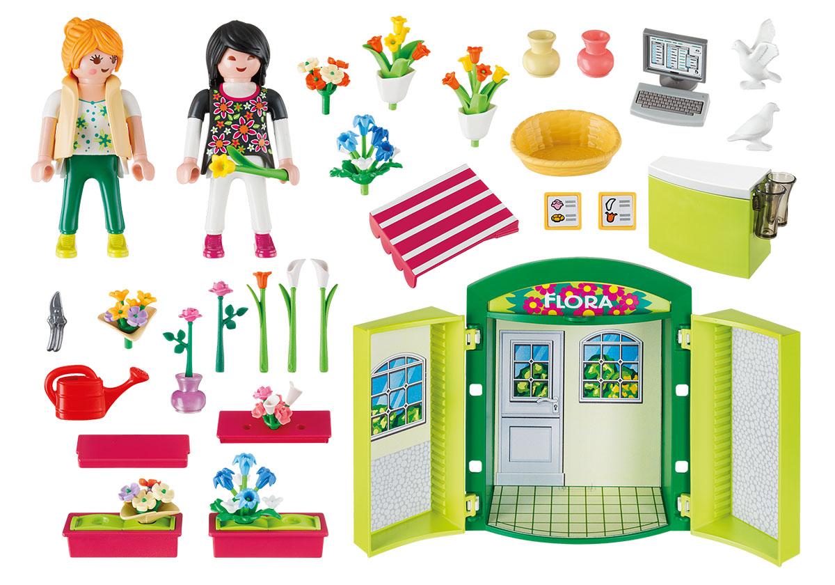 Playmobil Игровой набор Игровой бокс Цветочный магазин playmobil игровой набор в поисках приключений лодка с браконьерами