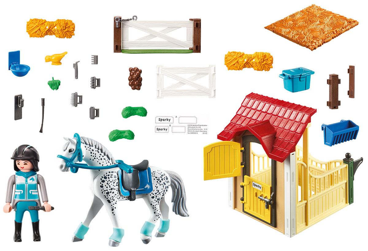 Playmobil Игровой набор Конюшня со скакунами аппалузской породы