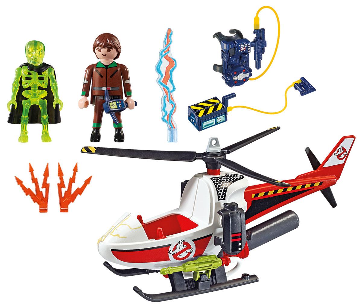 Playmobil Игровой набор Охотники за привидениями Вэнкман с вертолетом футболка только вертолетом