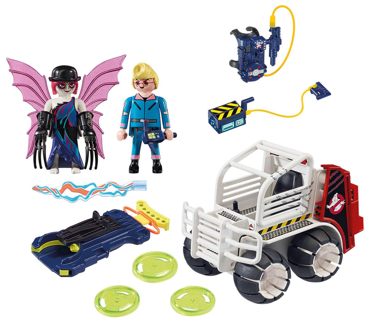 Playmobil Игровой набор Охотники за привидениями Спенглер с клеткой-автомобилем playmobil спасатели с носилками