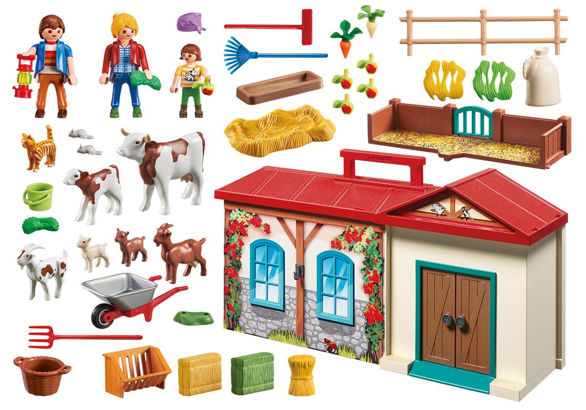 Playmobil Игровой набор Ферма Возьми с собой playmobil® возьми с собой пляжное бунгало playmobil