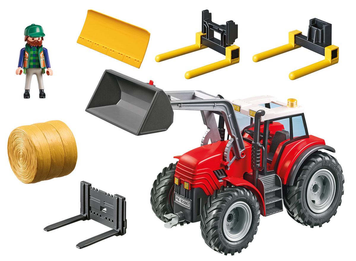 Playmobil Игровой набор Ферма Большой трактор игровой набор playmobil ферма пони пикник с коневозкой