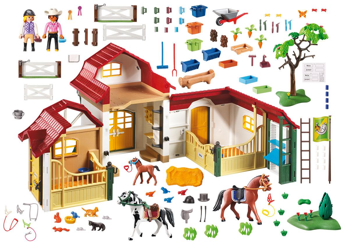 Playmobil Игровой набор Ферма Лошадиная ферма schleich игровой набор большая ферма с животными и аксессуарами