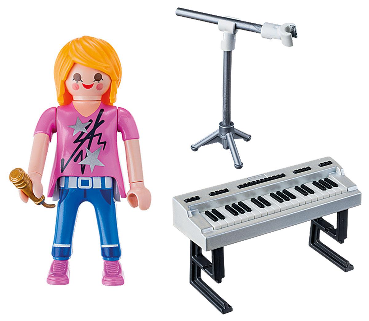 Playmobil Игровой набор Экстра-набор Певица с синтезатором playmobil игровой набор в поисках приключений лодка с браконьерами