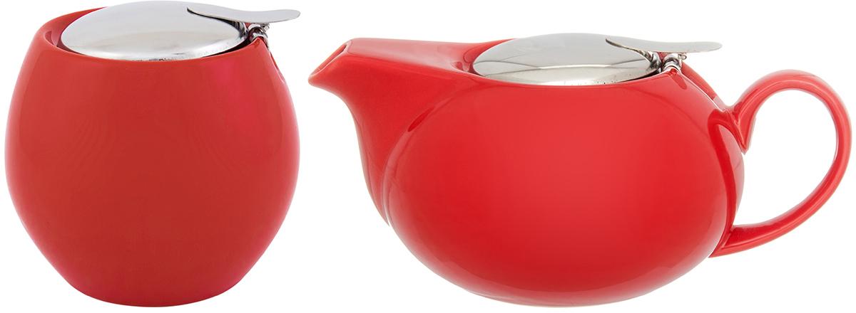 """Набор чайный """"Elan Gallery"""", цвет: красный, 2 предмета"""