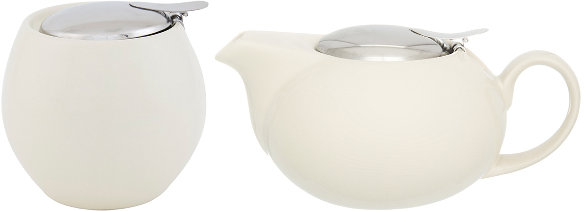 """Набор посуды из фарфора цвета """"Ваниль""""- это украшение стола и отличный подарок. Красота и уют вашего дома! Дизайн чайника проработан учитывая все подробности. Все части аккуратно скомбинированы и хорошо дополняют друг друга.  Эта модель станет замечательной находкой для себя или презентом родным. Традиционная сахарница подойдет для сахара, для соли, для специй. Эксклюзивный дизайн и функциональность сахарницы сделают ее незаменимой на любой кухне."""