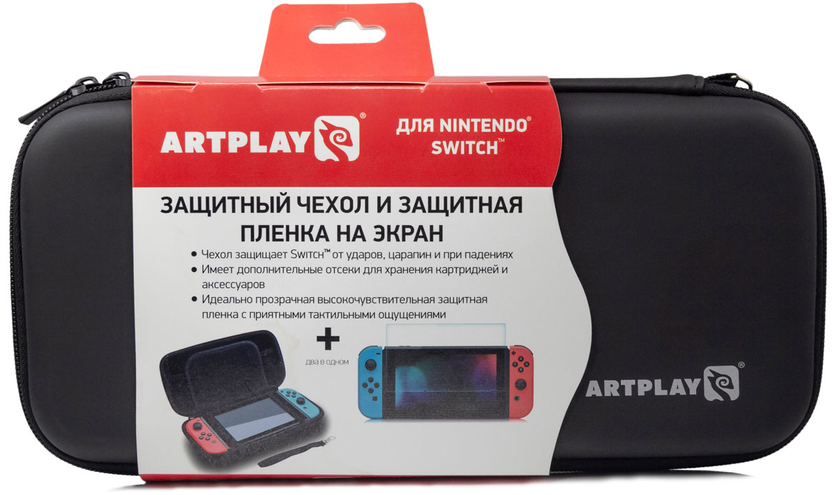 Artplays Чехол и защитная пленка для Nintendo Switch аксессуар для игровой приставки nintendo switch чехол и защитная пленка
