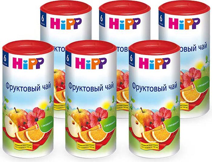Hipp чай гранулированный фруктовый, с 6 месяцев, 6 шт по 200 г чай hipp детский чай липовый цвет с мелиссой с 4 мес 200 г
