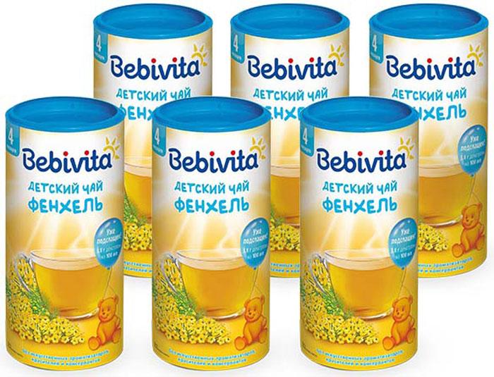 Bebivita чай гранулированный детский Фенхель, с 4 месяцев, 6 шт по 200 г чай hipp детский чай липовый цвет с мелиссой с 4 мес 200 г