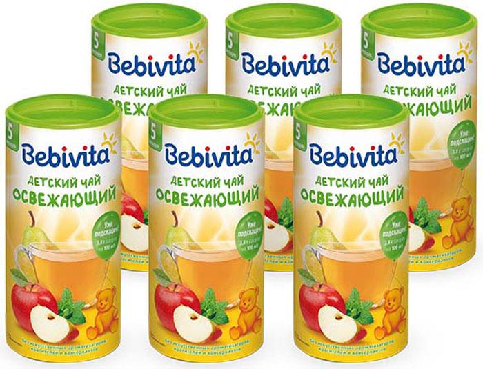 Чай детский Bebivita «Освежающий» с 5 мес. 200 г.Полезный напиток с приятным и очень свежим вкусом отборных яблок и груш и мягким успокаивающим действием экстракта мелиссы. Он прекрасно подходит детям от 5 месяцев. Обеспечивает детский организм ценными биологически активными веществами, улучшает пищеварение, укрепляет иммунитет. Можно применять для утоления жажды между кормлениями.