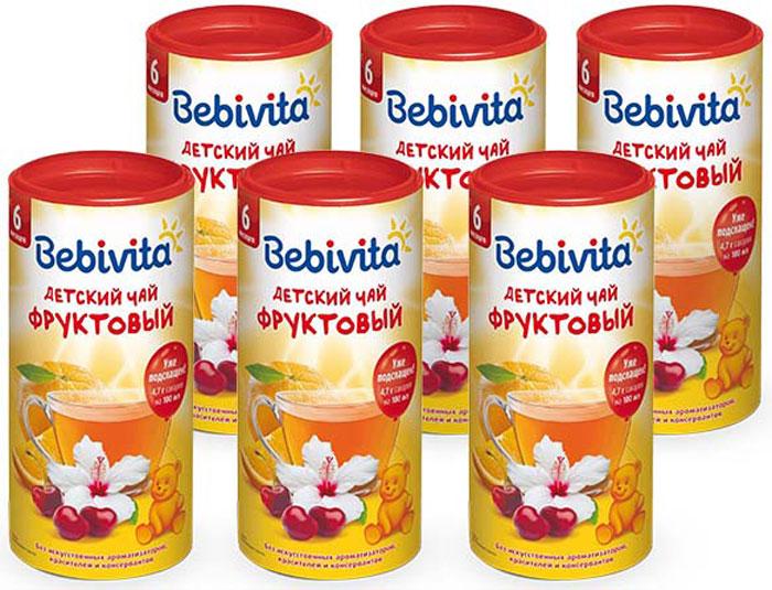 Чай детский Bebivita Фруктовый с 6 мес. 200 г. Гранулированные инстантные чаи Bebivita содержат в своём составе натуральные экстракты трав. Фруктовые чаи для детей постарше содержат натуральные сухие измельченные фрукты и ягоды, экстракты соков, а также обогащены витамином С, который важен для укрепления иммунной системы ребёнка. Освежающий ароматный напиток, дополнительный источник жидкости для детей старше 6 месяцев. Применяется как общеукрепляющее средство, для утоления жажды, с целью повышения аппетита и жизненного тонуса ребенка, регуляции деятельности желудочно-кишечного тракта. Чай вкусен как в теплом, так и в охлажденном виде, в любое время года.