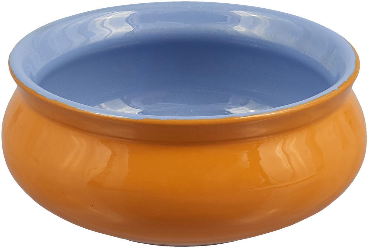 Тарелка Борисовская керамика Скифская, 300 мл, цвет: темно-желтый, сиреневый not brand темно сиреневый галстук селедка 18633