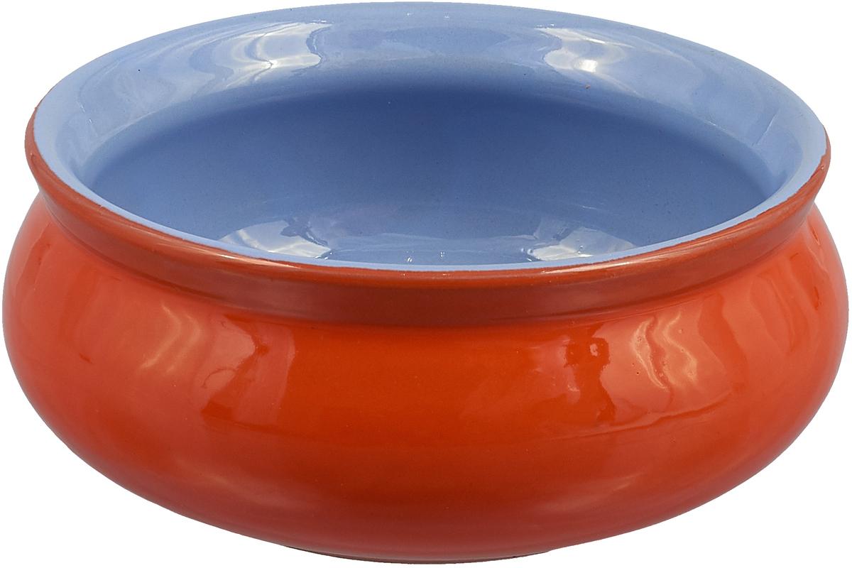 Тарелка Борисовская керамика Скифская, 300 мл, цвет: оранжевый, сиреневый чашка чайная борисовская керамика пион цвет оранжевый 300 мл