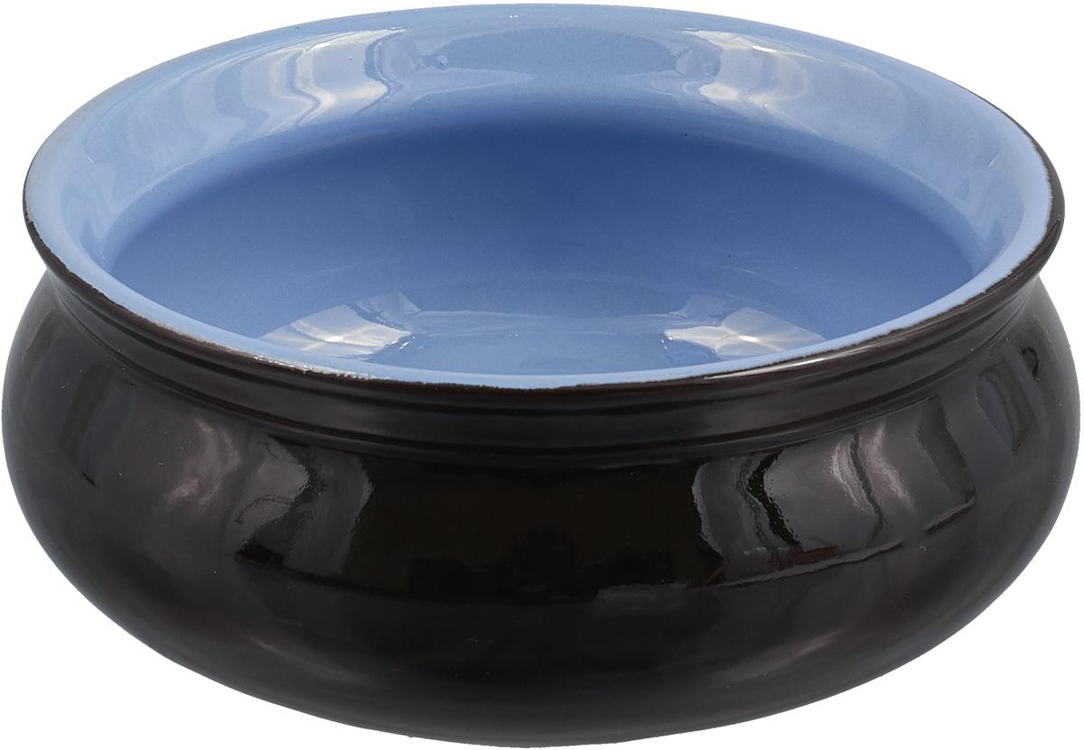 Тарелка Борисовская керамика Скифская, 300 мл, цвет: черный, сиреневый тарелка борисовская керамика скифская 300 мл цвет оранжевый сиреневый