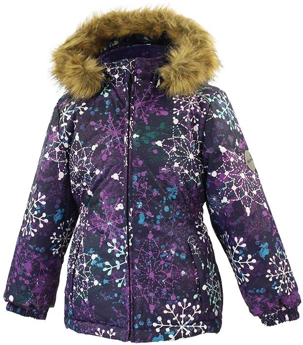 Куртка для девочки Huppa Marii, цвет: темно-лилoвый. 17830030-82073. Размер 128