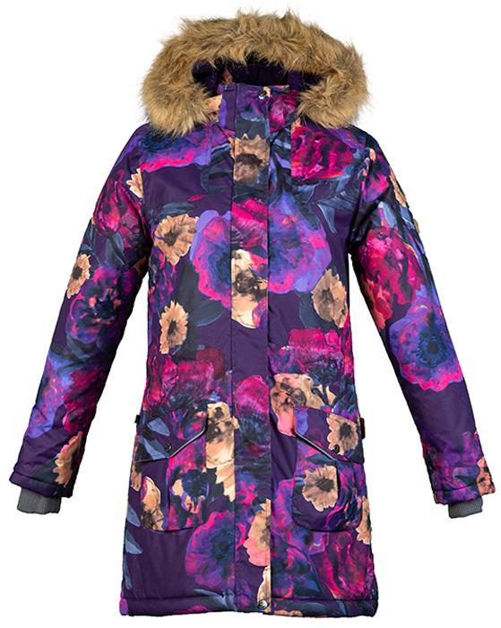 Пальто для девочки Huppa Mona, цвет: лилoвый. 12200030-81753. Размер 146