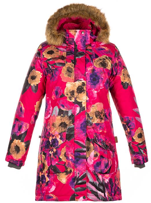 Пальто для девочки Huppa Mona, цвет: фуксия. 12200030-81763. Размер 170/176