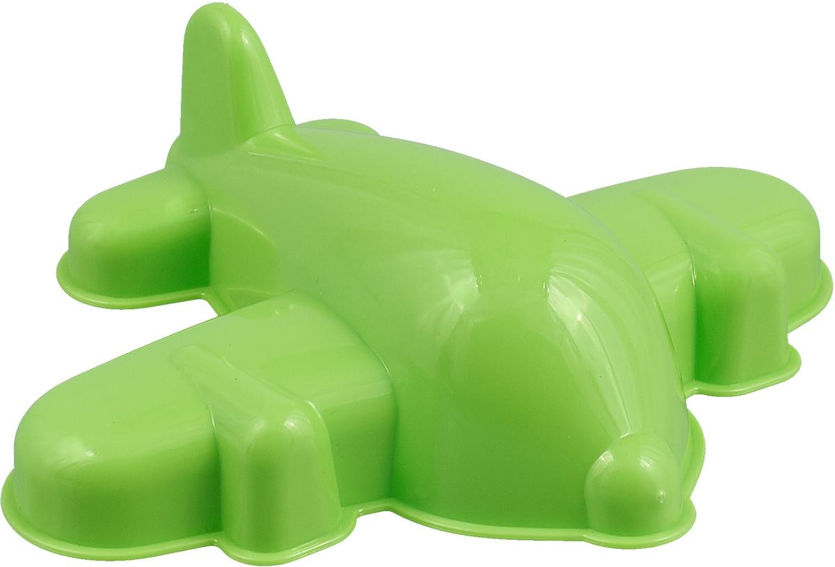 Полесье Игрушка для песочницы Формочка Самолёт цвет зеленый полесье игрушка для песочницы грабли большие цвет красный