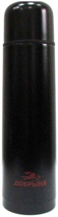Термос Добрыня, цвет: черный, 0,75 л