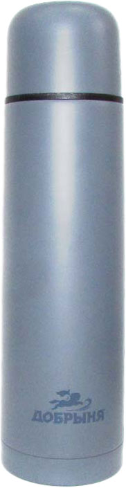 Термос Добрыня, цвет: серый, 1 л cute marshmallow style silicone back case for iphone 5 5s light blue deep blue