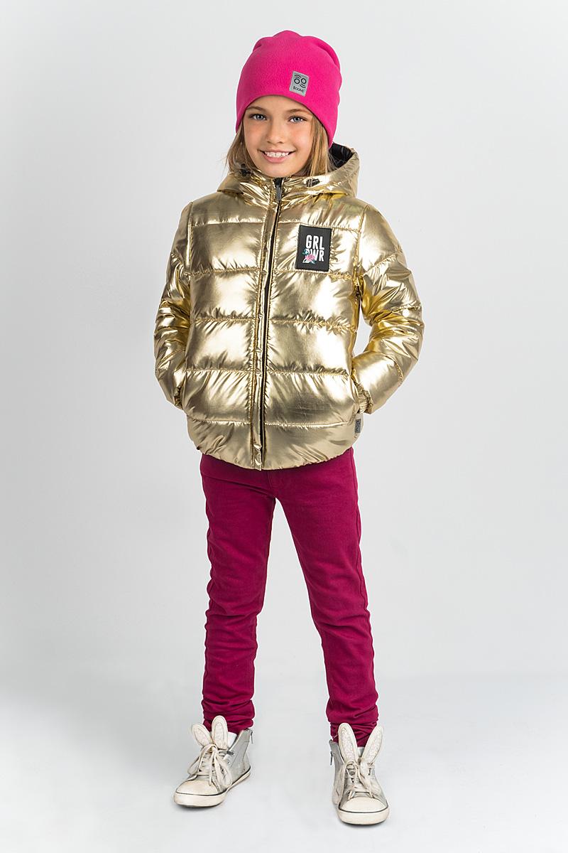 Куртка для девочки Boom!, цвет: золото. 80361_BOG. Размер 140