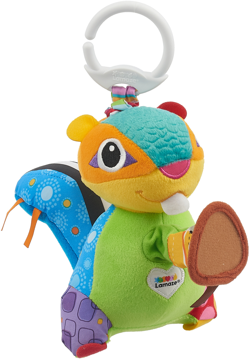 Lamaze Развивающая игрушка Бурундучок Макс игрушки подвески lamaze веселый омар