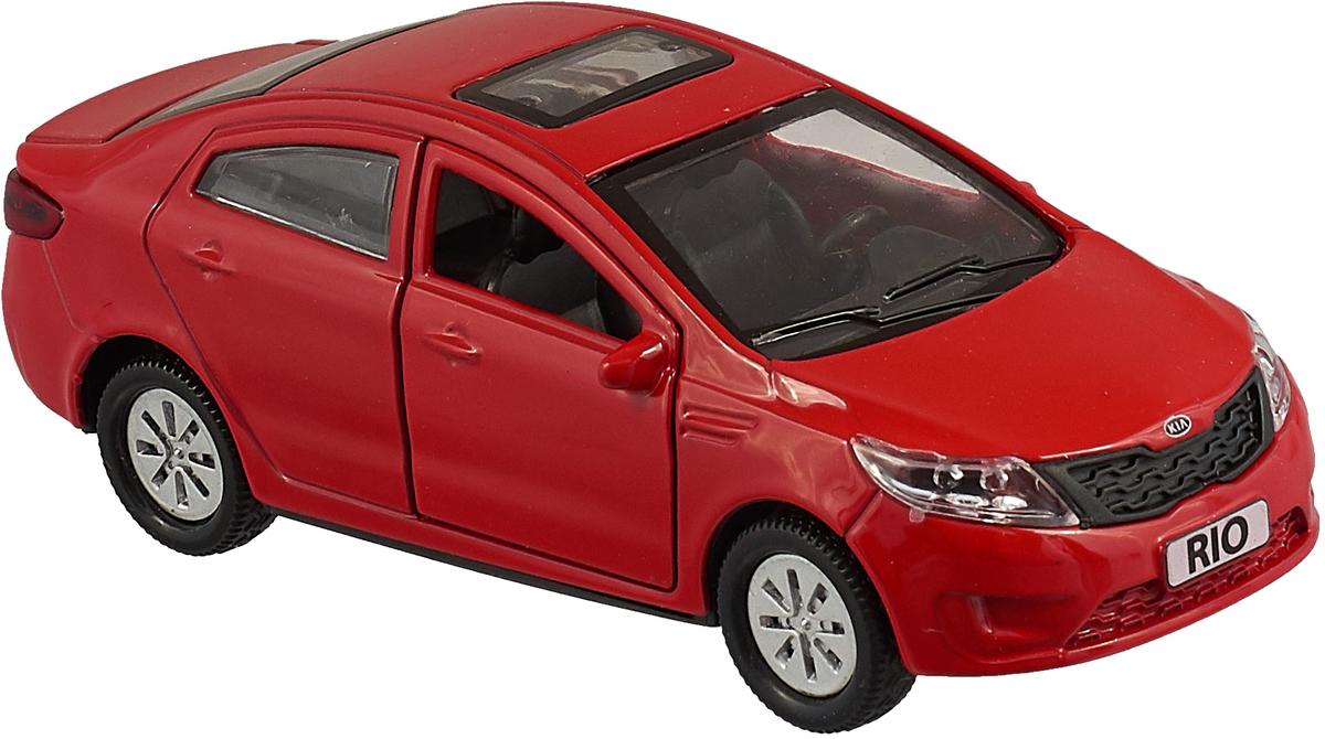 ТехноПарк Машинка инерционная Kia Rio RIO-MIX, цвет красный технопарк машинка инерционная hyundai solaris solaris mix