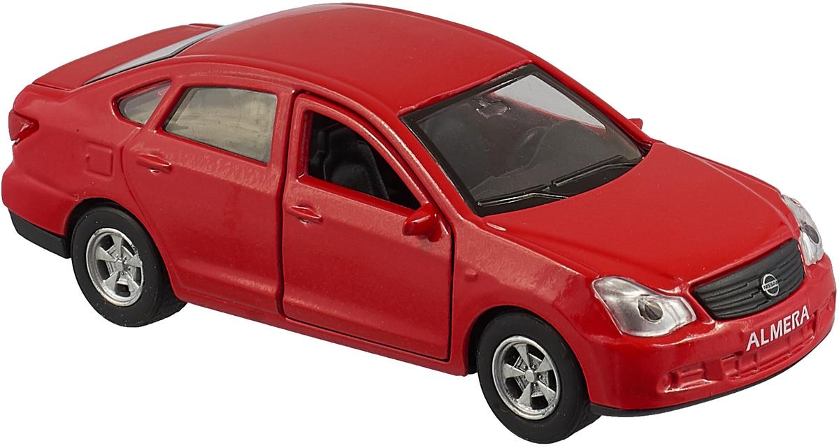 Технопарк Машинка инерционная Nissan Almera, цвет красный машинки технопарк машина технопарк металлическая инерционная bmw x6
