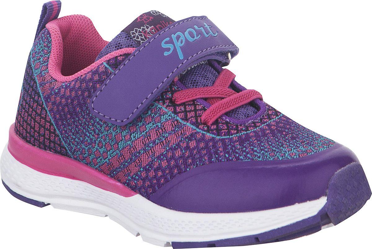 Кроссовки для девочки Kapika, цвет: фиолетовый. 72243-2. Размер 29