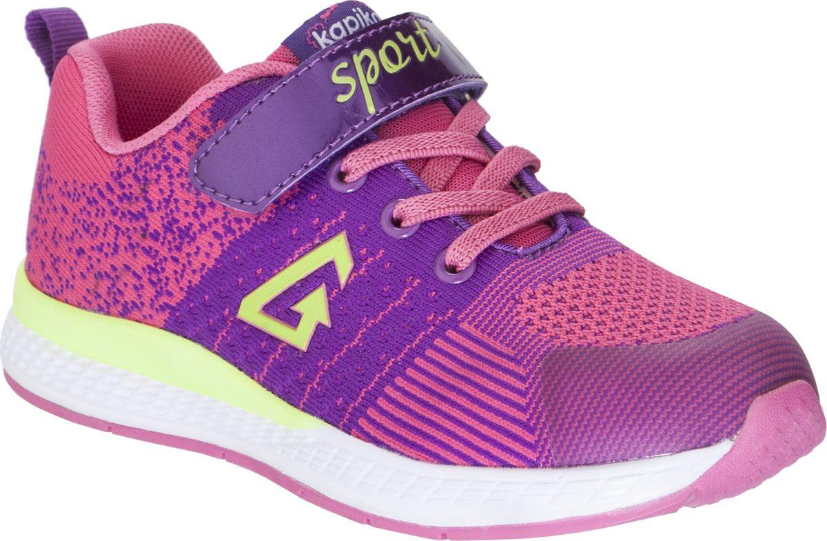Кроссовки для девочки Kapika, цвет: фуксия. 73306-1. Размер 33 кроссовки для девочки kapika цвет розовый фиолетовый 72219с 1 размер 32