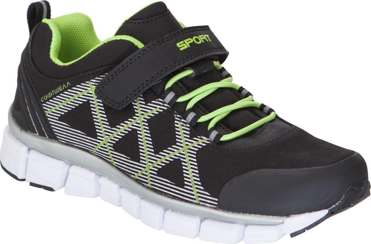 Кроссовки для мальчика Kapika, цвет: черный. 73340c-1. Размер 35 кроссовки для мальчика zenden цвет красный 219 33bg 043tt размер 33