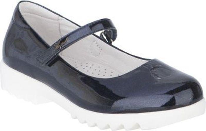 Туфли для девочки Kapika, цвет: темно-синий. 24477п-1. Размер 35