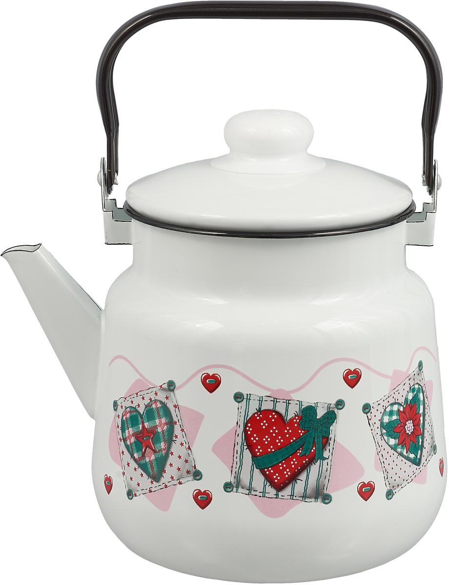 """Чайник """"Эмаль"""", 3,5 л сердце"""