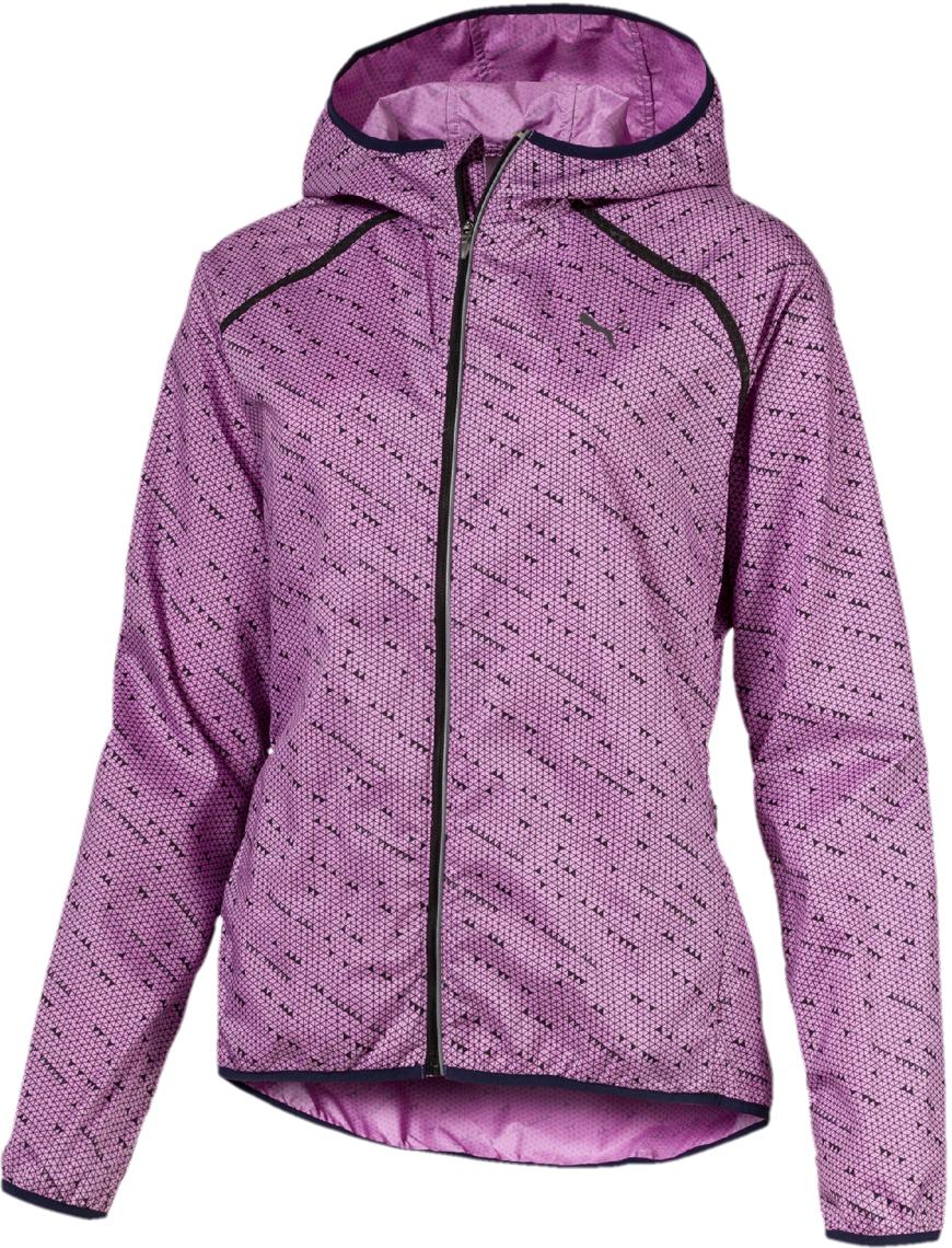 Ветровка женская Puma LastLap Graphic Jacket W, цвет: розовый. 51666703. Размер XL (48/50) футболка женская puma s s logo tee w цвет темно оливковый 51667403 размер xl 48 50
